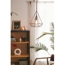 Cara Caged Pyramid Pendant Light - Bronze at Urban Outfitters