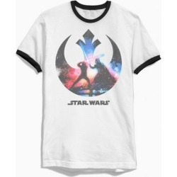 Star Wars Luke And Vader Ringer Tee - Black L at Urban Outfitters