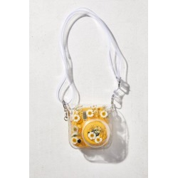 Pressed Floral Instax Mini 8/9 Camera Bag - Clear at Urban Outfitters