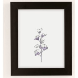 The Colour Study Cotton Flower Illustration - Black 30X40 at Urban Outfitters