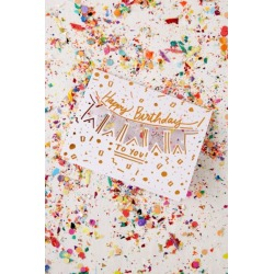 Thimblepress Confetti Birthday Card - White at Urban Outfitters