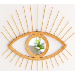 Rattan Eye Wall Mirror - Beige at Urban Outfitters