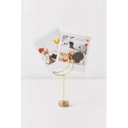 Crescent Moon Photo Clip Stand - Gold at Urban Outfitters