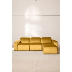 Modular Velvet Sofa - Gold S at Urban Outfitters
