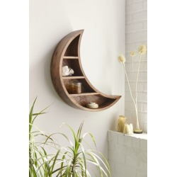 Crescent Moon Wall Shelf - Brown at Urban Outfitters