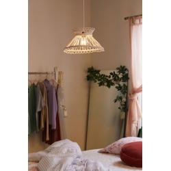 Anya Rattan Pendant Light - White at Urban Outfitters