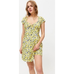 Motel Enali Floral Twist-Front Mini Dress found on MODAPINS from Urban Outfitters (US) for USD $69.00