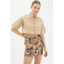 Motel Marka Boxy Button-Front Top found on MODAPINS from Urban Outfitters (US) for USD $59.00