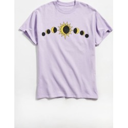 Sun And Moon Eclipse Tee - Purple L at Urban Outfitters