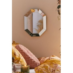 Charlotte Faceted Wall Mirror - Clear at Urban Outfitters