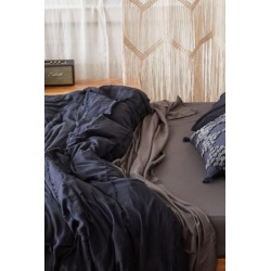 Paloma Fringe Duvet Cover - Black King at Urban Outfitters