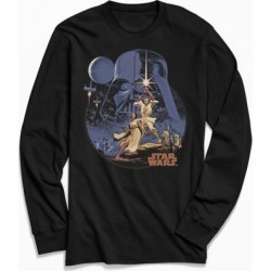 Star Wars Vintage Poster Long Sleeve Tee - Black L at Urban Outfitters