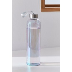 Printed Glass Water Bottle - White at Urban Outfitters