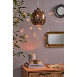 Joanna Metal Pendant Light - Brown at Urban Outfitters