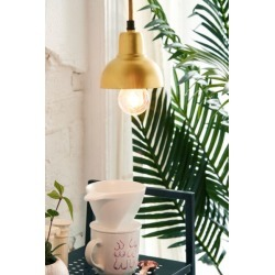 Webster Petite Metal Pendant Light - Gold at Urban Outfitters