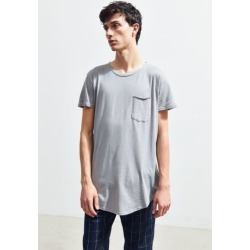 UO Scoop Neck Curved Hem Tee - Grey S at Urban Outfitters found on Bargain Bro India from Urban Outfitters (US) for $29.00