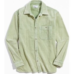 UO Big Corduroy Workshirt - Green L at Urban Outfitters
