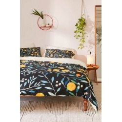Ilsa Monttinen For Deny Orange Mania Duvet Cover - Black King at Urban Outfitters