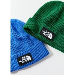 The North Face Logo Box Cuffed Beanie - Green at Urban Outfitters
