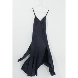 Dress Forum Spliced Satin Slip Dress