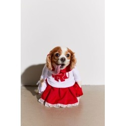 Cheerleader Dog Halloween Costume - Red M at Urban Outfitters