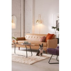Sydney Recycled Leather Sofa - Brown at Urban Outfitters