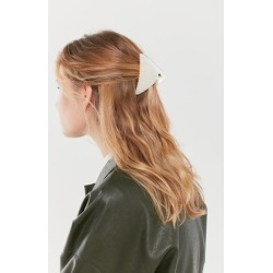 Pearl Triangle Claw Clip - White at Urban Outfitters