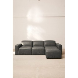 Modular Recycled Leather Sofa - Grey S at Urban Outfitters