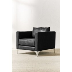 Chamberlin Recycled Leather Chair - Black at Urban Outfitters