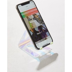 Iridescent Phone Stand - Clear at Urban Outfitters