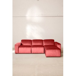 Modular Velvet Sofa - Red S at Urban Outfitters