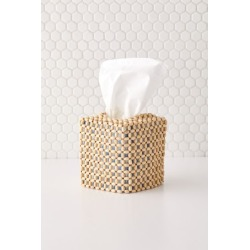 Boho Beaded Tissue Box Cover - Beige at Urban Outfitters