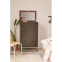 Lena Tall Dresser - Grey at Urban Outfitters found on Bargain Bro India from Urban Outfitters (US) for $999.00