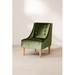 Inez Tufted Velvet Chair - Green at Urban Outfitters