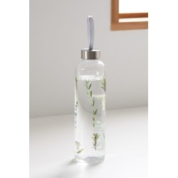 Printed Glass Water Bottle - Green at Urban Outfitters
