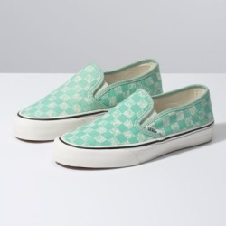 acc57093f1b2e1 Vans Distressed Checkerboard Slip-On SF (Neptune Green) found on MODAPINS  from Vans
