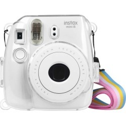 Fintie Fujifilm Instax Mini 9 Mini 8 Mini 8+ Camera Clear Case - Crystal Hard PVC Protective Case Cover, (Camera not included)