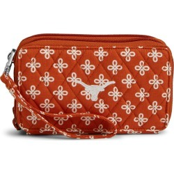 Vera Bradley Collegiate RFID All in One Crossbody, Texas, TX Orange/White Mini Concerto with