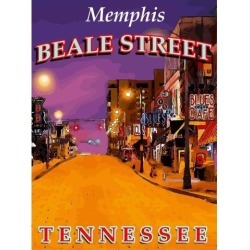 Memphis Tennessee United States of America Travel Advertisement Art Poster found on Bargain Bro India from Newegg Business for $17.01