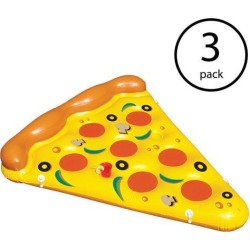 Swimline Giant Inflatable Pizza Slice Float Raft For Lake Beach Pool (3...