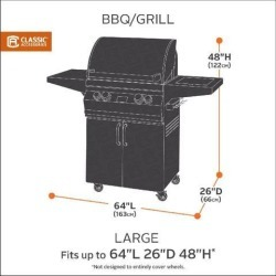 Ravenna BBQ Grill Cover, Large, Black - Classic# 55-391-040401-EC found on Bargain Bro India from Newegg Canada for $65.89