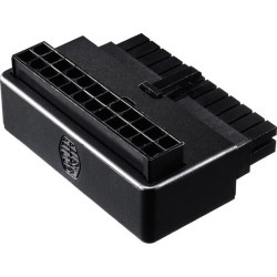 Cooler Master Universal ATX 24 Pin 90° Adapter, w/ added capacitors for stable power output for Power Supply found on Bargain Bro India from Newegg for $16.99