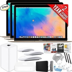 Apple 12' MacBook (Mid 2017, Gold) Family Combo (3 Laptops + Accessories)...