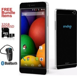 New Indigi® Black M8 Factory Unlocked Global Mobile Device 6' QHD 3G Smart Phone GPS + FREE Extras!