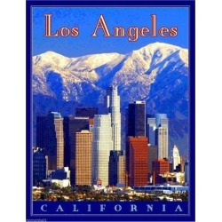 Los Angeles California United States of America Travel Poster Art Advertisement found on Bargain Bro India from Newegg Business for $16.77