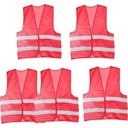 Reflective Mesh Design Security Vest for Jogging Traffic Safety Dark Red 5pcs found on Bargain Bro India from Newegg Canada for $22.20