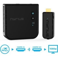 Nyrius ARIES Prime Wireless Video HDMI Transmitter & Receiver for Streaming HD 1080p 3D Video & Digital Audio from Laptop, PC, Cable, Netflix,