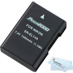 Replacement EN-EL14a, EN-EL14 High Capacity Li-ion Battery For Nikon D3500, D5600, D5500, D5300, D3400, D3300, D5100, D5200, D3100, Nikon Df, D3200 found on Bargain Bro India from Newegg Business for $26.05