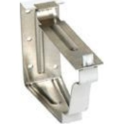 Amerimax Home Products 33022 2 Piece Snap Lock Fascia Bracket, White Galvanized Steel - 5 in