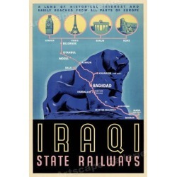 Iraq State Railway Baghdad 1930s Vintage Style Railway Travel Poster - 20x30 found on Bargain Bro India from Newegg Business for $34.23